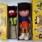 Vintage Pair Of Boxed Pelham Puppets Magic Roundabout Zebedee And Florence #683
